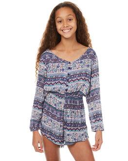 MOSAIC BLUE KIDS GIRLS BILLABONG PLAYSUITS + OVERALLS - 5571473MOS