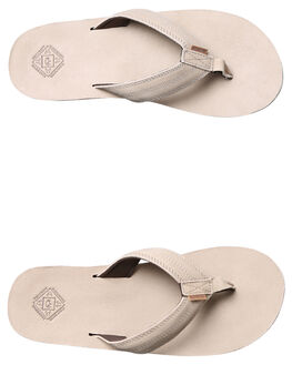 TAN MENS FOOTWEAR FREEWATERS THONGS - MO018TAN