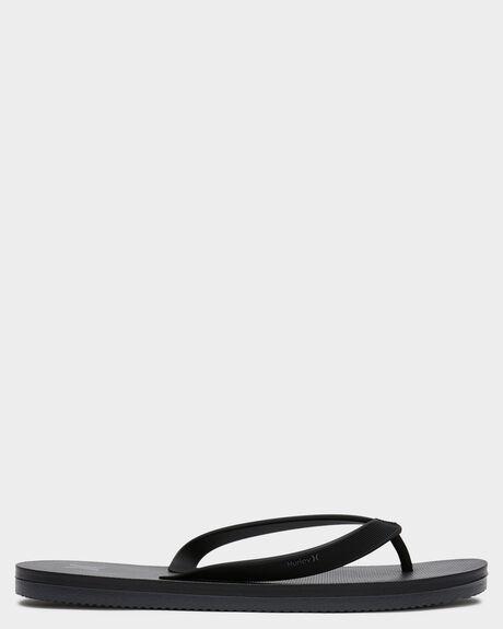 BLACK MENS FOOTWEAR HURLEY THONGS - AR5506010