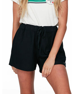 ANTHRACITE WOMENS CLOTHING ROXY SHORTS - ERJNS03249-KVJ0