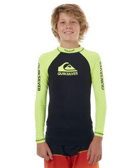 SAFETY YELLOW  BLACK SURF RASHVESTS QUIKSILVER TODDLER BOYS - EQBWR03040XGGK