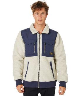 BONE WHITE INDIGO MENS CLOTHING BURTON JUMPERS - 17348102101BNWHT