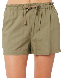 KHAKI WOMENS CLOTHING RIP CURL SHORTS - GWAEI10064