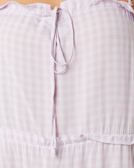 LILAC GINGHAM OUTLET WOMENS ELWOOD DRESSES - W937206HM