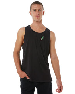 BLACK MENS CLOTHING HURLEY SINGLETS - AO8279010