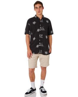 CASTAWAY BLACK MENS CLOTHING BARNEY COOLS SHIRTS - 306-CR4CAST