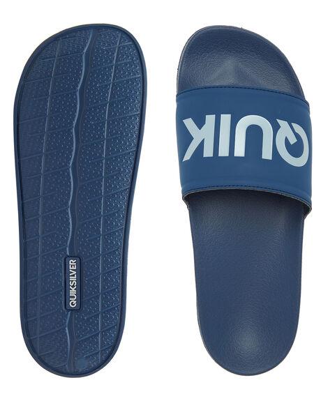BLUE GREY BLUE MENS FOOTWEAR QUIKSILVER THONGS - AQYL101167-XBSB