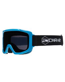CYAN GREY BOARDSPORTS SNOW CARVE GOGGLES - 6134CYNG