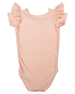 PEACHY PINK KIDS GIRLS LITTLE HEARTS DRESSES + PLAYSUITS - SSFRLLEOPCHPK