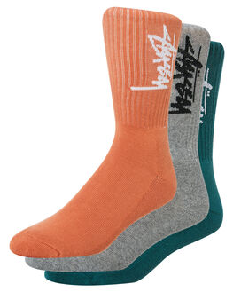 MULTI COLOURED MENS CLOTHING STUSSY SOCKS + UNDERWEAR - ST783016MULTI