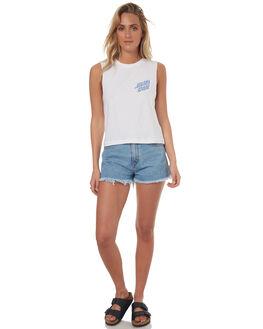 WHITE WOMENS CLOTHING SANTA CRUZ SINGLETS - SC-WTD7425WHT