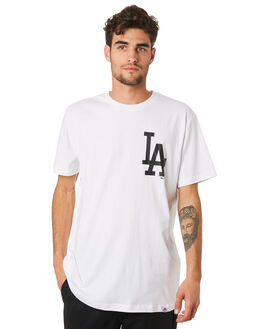 DODGERS WHITE MENS CLOTHING MAJESTIC TEES - MLD7020WBWHT