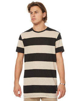 BLACK MENS CLOTHING RUSTY TEES - TTM1873BLK