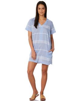 BLUE STRIPE WOMENS CLOTHING ELWOOD DRESSES - W84704BLUST
