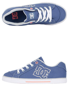 BLUE/GREY WOMENS FOOTWEAR DC SHOES SNEAKERS - 303226-BGC