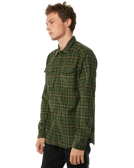 MILITARY OUTLET MENS RVCA SHIRTS - R183181MILIT
