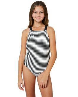 BLACK WHITE KIDS GIRLS SEAFOLLY SWIMWEAR - 15593BKWHT