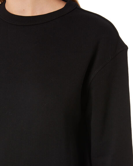 BLACK WOMENS CLOTHING AS COLOUR JUMPERS - 4121BLK