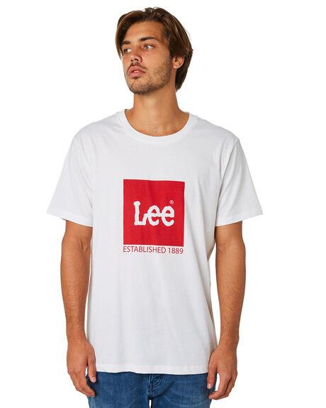 VINTAGE WHITE MENS CLOTHING LEE TEES - 601844922