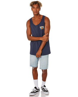 NAVY MENS CLOTHING RIP CURL SINGLETS - CTEYG20049