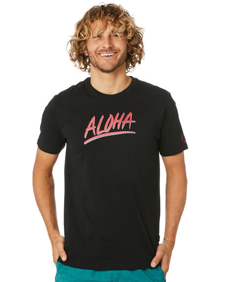 BLACK MENS CLOTHING TOWN AND COUNTRY TEES - TTE714ABLK