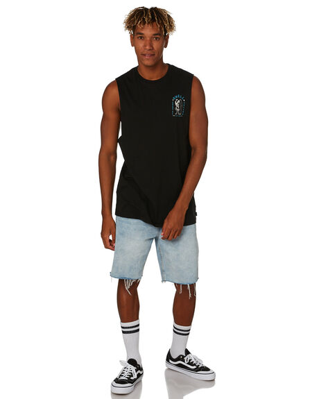 BLACK MENS CLOTHING SWELL SINGLETS - S5203272BLACK