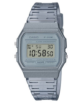 GREY MENS ACCESSORIES CASIO WATCHES - F91WS-8DGRY