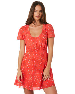 CHILLI STRAWBERRY WOMENS CLOTHING THE EAST ORDER DRESSES - EO190623DCHILLI