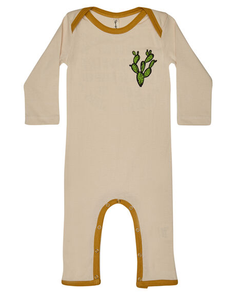 CREAM MUSTARD OUTLET KIDS ISLAND STATE CO CLOTHING - KEEPROLLNESIE-CRMNT