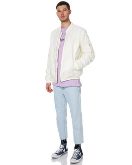 OFF WHITE MENS CLOTHING STUSSY JACKETS - ST075504OWHT