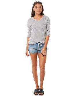 ANTHRACITE MINI STR WOMENS CLOTHING ROXY TEES - ERJZT04299KVJ4