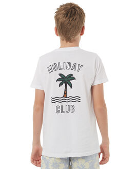 WHITE KIDS BOYS TEE INK TEES - YT1024WHT