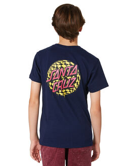 NAVY KIDS BOYS SANTA CRUZ TEES - SC-YTD8124NVY