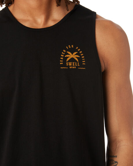 BLACK MENS CLOTHING SWELL SINGLETS - S5222270BLK