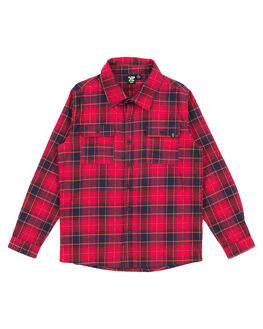 RED NAVY CHECK KIDS BOYS ALPHABET SOUP TOPS - AS-KSA8301RDNVY