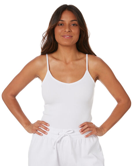 WHITE WOMENS CLOTHING SWELL SINGLETS - S8212003WHITE