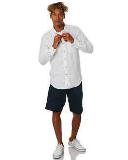 WHITE MENS CLOTHING OKANUI SHIRTS - OKMLSHS1701_WHWHI
