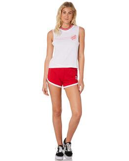 WHITE WOMENS CLOTHING SANTA CRUZ SINGLETS - SC-WTC7370WHI