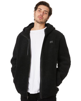 BLACK MENS CLOTHING RUSTY JUMPERS - FTM0915BLK