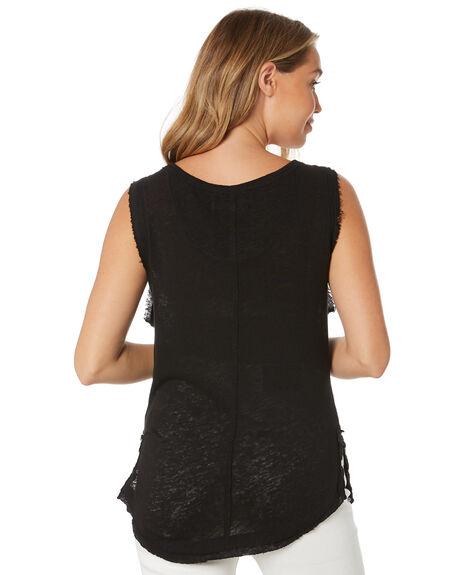 BLACK WOMENS CLOTHING FREE PEOPLE SINGLETS - OB10726820010