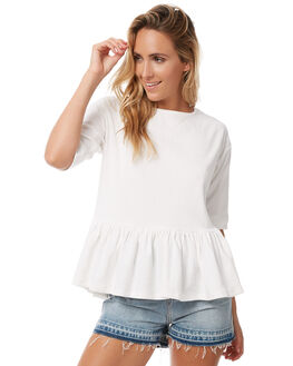 WHITE OUTLET WOMENS SWELL TEES - S8182001WHITE