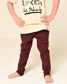 BURGUNDY KIDS BOYS LITTLE LORDS PANTS - AW19321BURG