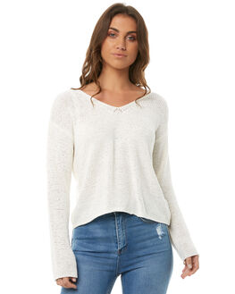 WHITE WOMENS CLOTHING MINKPINK KNITS + CARDIGANS - MP1708801WHT