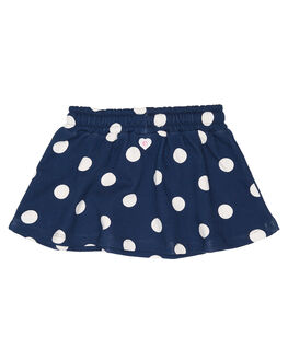 NAVY WITH WHITE SPOT KIDS GIRLS EVES SISTER SHORTS + SKIRTS - 8034014NAVY