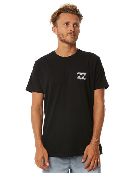 BLACK MENS CLOTHING BILLABONG TEES - 9585029BLK