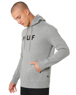 GREY HEATHER MENS CLOTHING HUF JUMPERS - PF00099-GYHTR