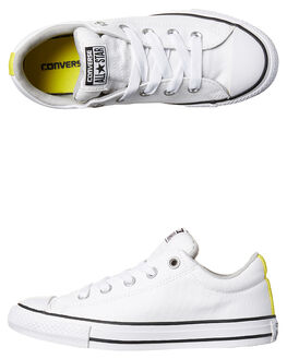 WHITE GREY WHITE KIDS BOYS CONVERSE SNEAKERS - 656069WHI