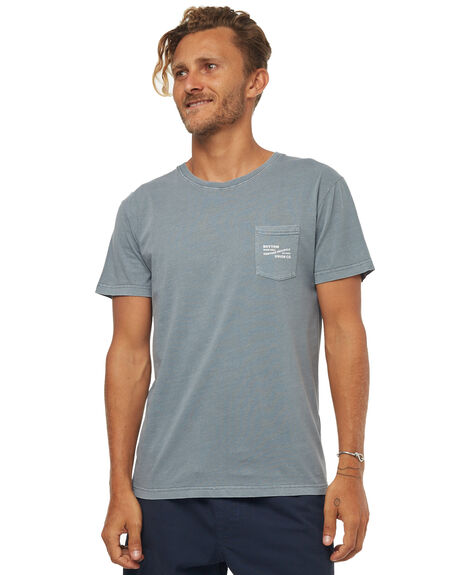 STONE BLUE MENS CLOTHING RHYTHM TEES - JAN18M-PT02BLU