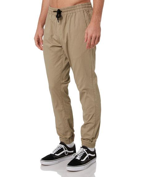 KHAKI MENS CLOTHING VOLCOM PANTS - A1201906KHA