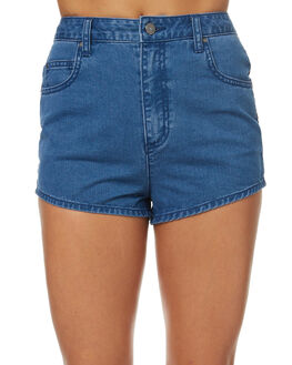 MID BLUE OUTLET WOMENS TIGERLILY SHORTS - T372302MIDBL
